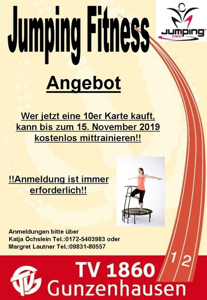 Jumping Fitness Angebot